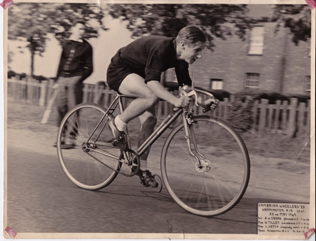 Doug aged 18 cycling the Cambrian Wheelers 25 in May 1949