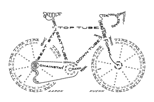 bicycle-typogram