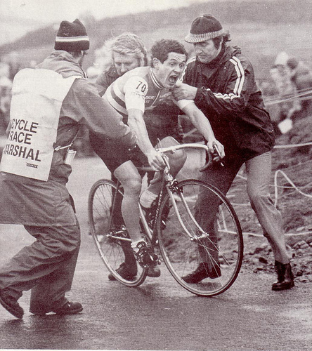 Hill Climb Championships, Nick O'Pendle, 1980.  Steve Joughin equals course record.